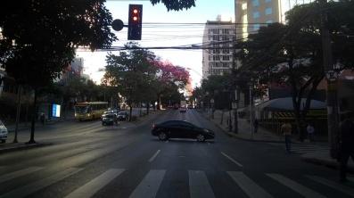 Ipê na Contorno, quase com rua da Bahia. Foto de CMC em 24.7.2019