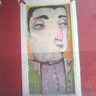 Noel Rosa: grafite na rua Manaus, perto da praça Floriano Peixoto. Clique de CMC em 8.9.2019
