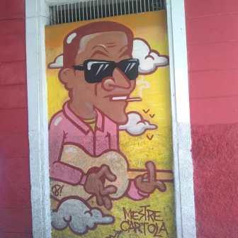 Cartola: grafite na rua Manaus, perto da praça Floriano Peixoto. Clique de CMC em 8.9.2019