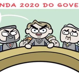 """Claudio Mor ilustra o quinteto """"fantástico"""" do governo na """"Folha"""""""
