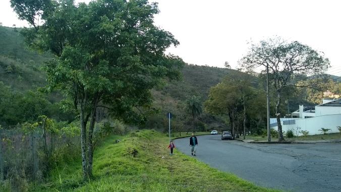 Rua no bairro Mangabeiras.